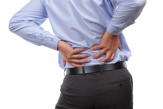 Back pain caused by poor posture