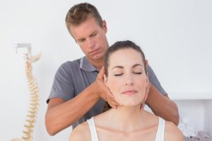 patient getting chiropractic adjustments