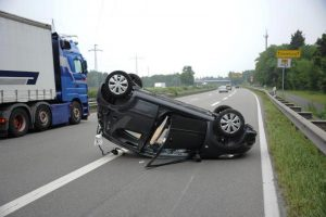 Car Accident with 18 Wheeler Resulte Concussions