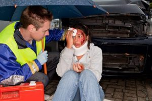 Car accident and whiplash soft tissue injury