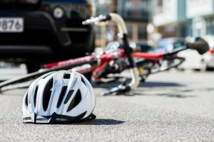 Bicycle accident with a car